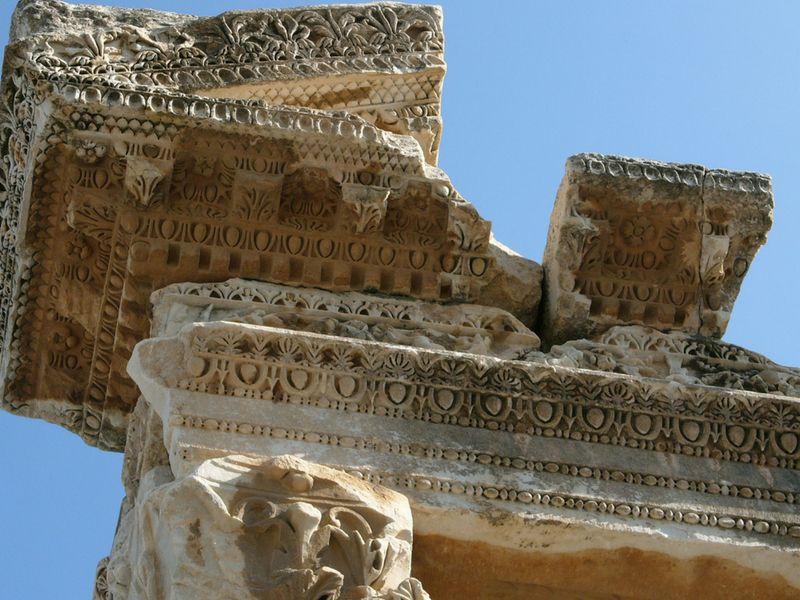 Detalle de uno de los frisos de Éfeso.