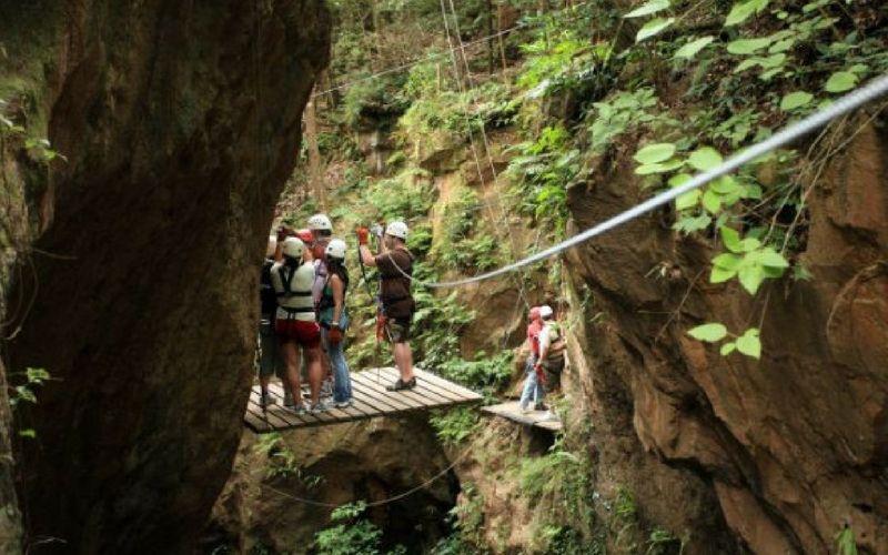 Una de las actividades más frecuentes en Costa Rica es el canopy.