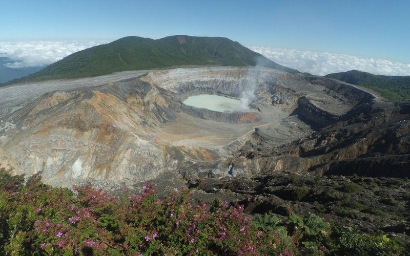 El volcán Poás