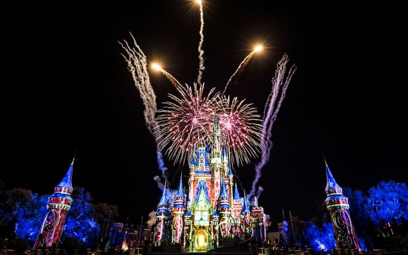 """Happily Ever After"" es el espectáculo de cierre del parque Magic Kingdom."