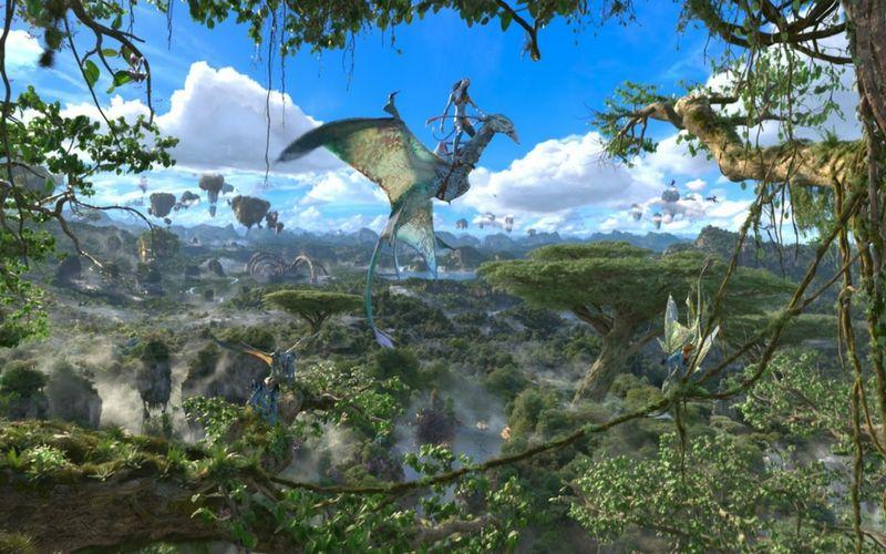 Avatar Flight of Passage es una expedición en 3D que transporta a los viajeros en un majestuoso vuelo simulado.