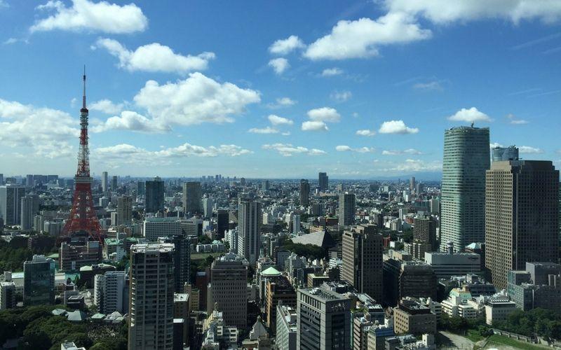 Panorámica de la ciudad. Allí sobresale la Torre de Tokio.