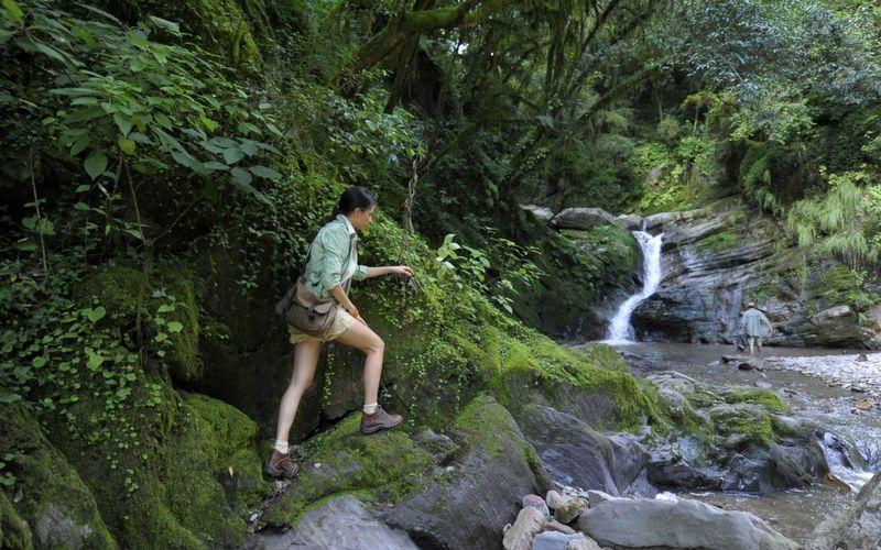 Trekking en las inmediaciones del río Noque.