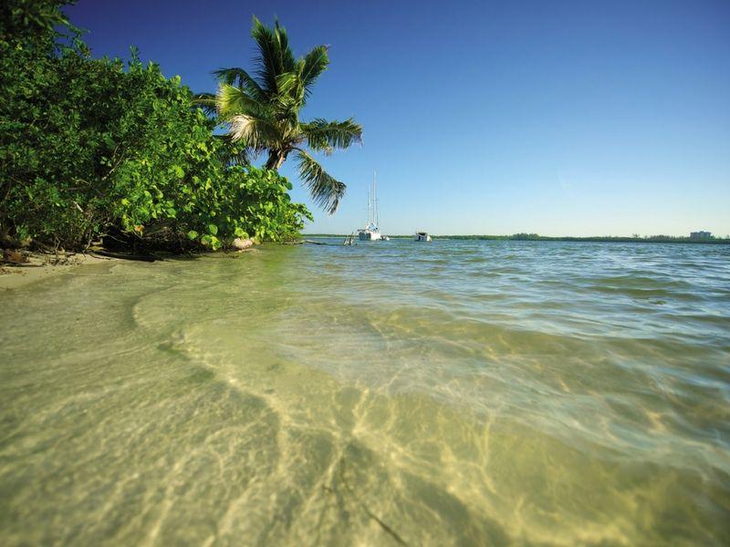 Aguas cálidas y transparentes regalan las playas de la zona.