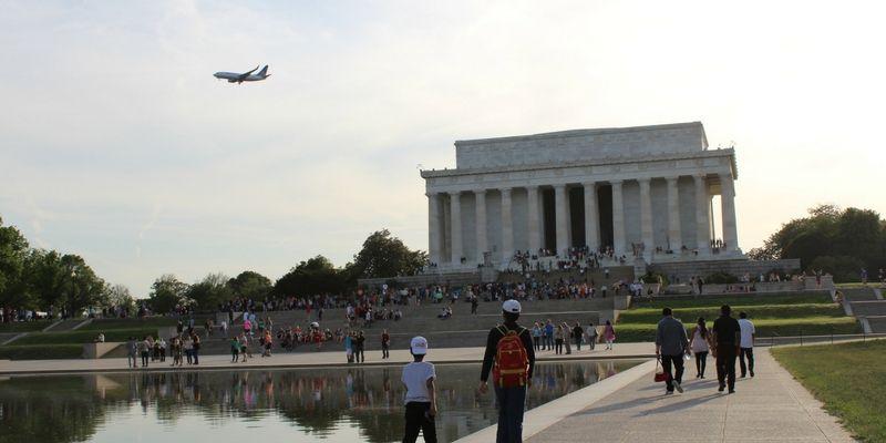 En el Lincoln Memorial