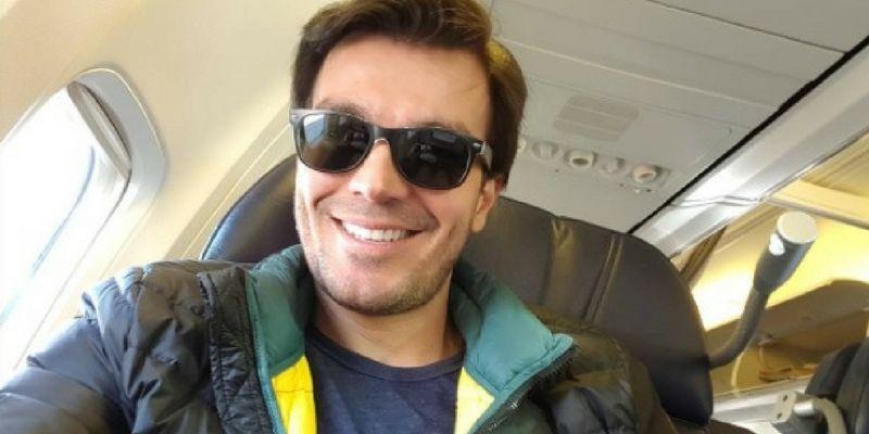 Luciano viajó con Aeroméxico en primera clase.