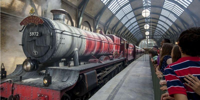 King´s Cross reproducida en Orlando: desde allí parte el Hogwarts Express.