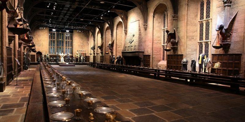 El gran hall de Hogwarts se conserva en el estudio Warner.