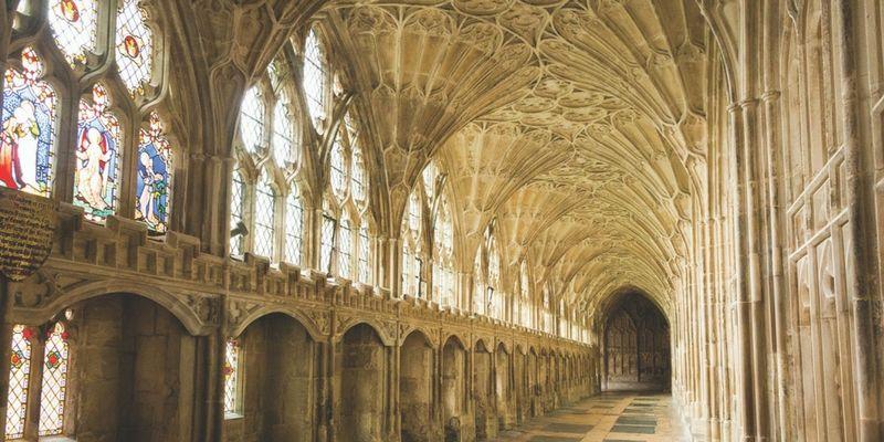 La Catedral de Gloucester fue escenario de diversas escenas de la saga.