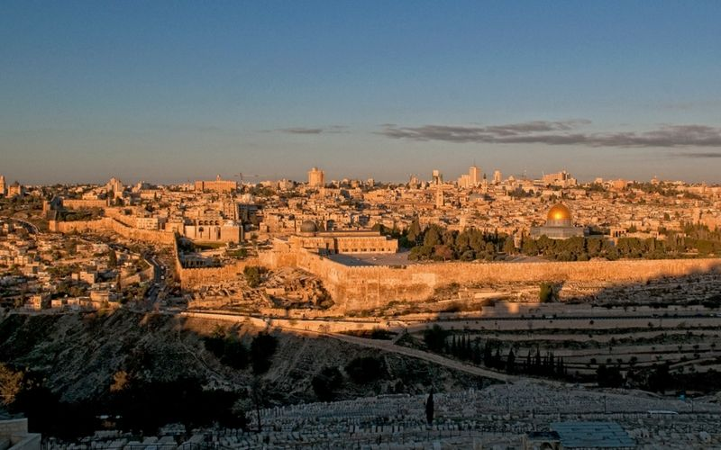 Una panorámica general de Jerusalén.