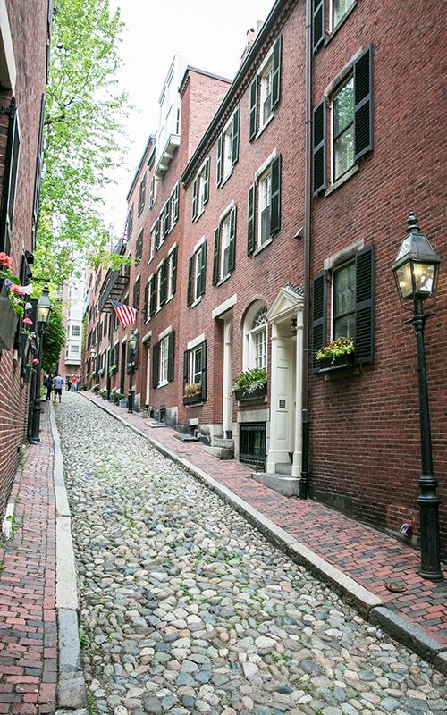 Calles estrechas dibujan el barrio de Beacon Hill
