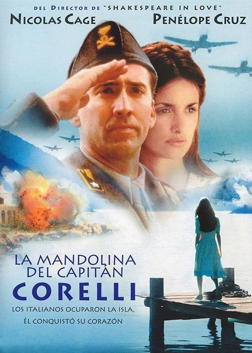 "Póster del filme ""La mandolina del Capitán Corelli""."