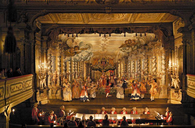 En el Castillo Český Krumlov se encuentra uno de los teatros barrocos más antiguos y mejor conservados de Europa.