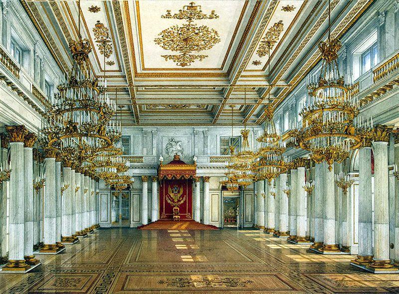 Las salas del Hermitage resguardan más de 3 millones de piezas.