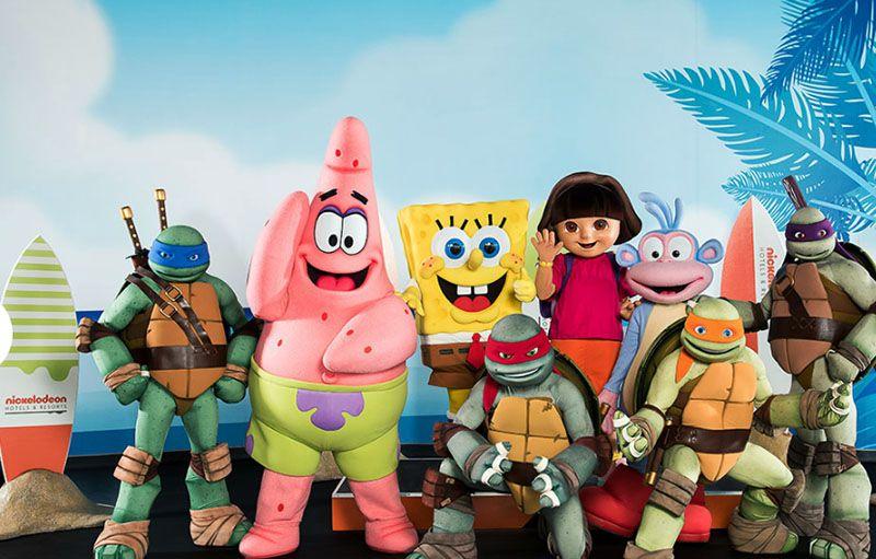Aquí están los protagonistas de las series de Nickelodeon.