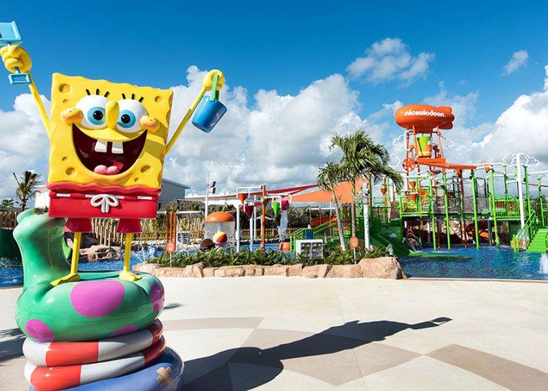 Los personajes de Nickelodeon están presentes en todas las áreas del hotel.
