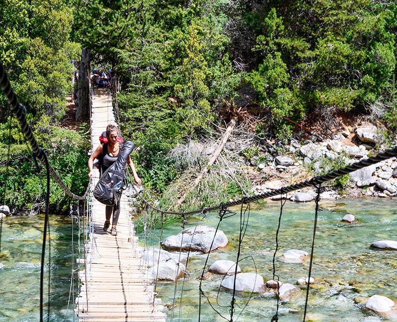 El Bolsón brinda una verdadera experiencia de contacto con la naturaleza.