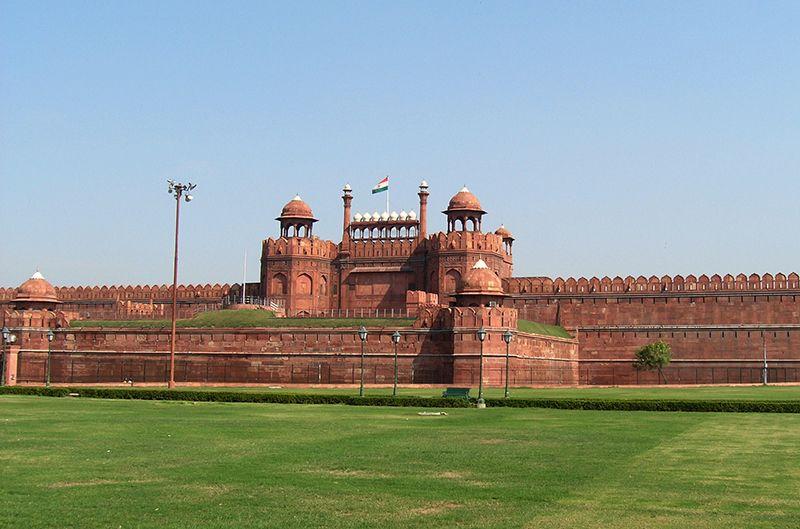 El Fuerte Rojo es un imperdible en las afueras de Delhi.