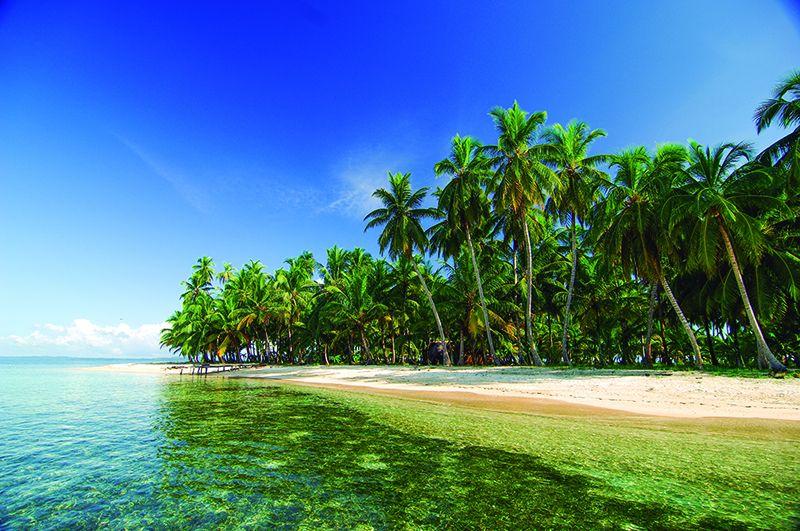 Islas sobre el Pacífico.