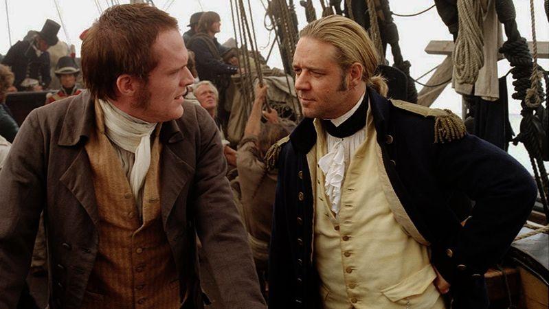"""El """"falso"""" Charles Darwin de """"Capitán de mar y guerra: la costa más lejana del mundo"""""""