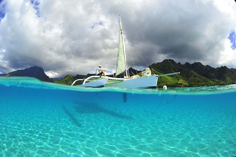 El impactante color de las aguas de la Polinesia.