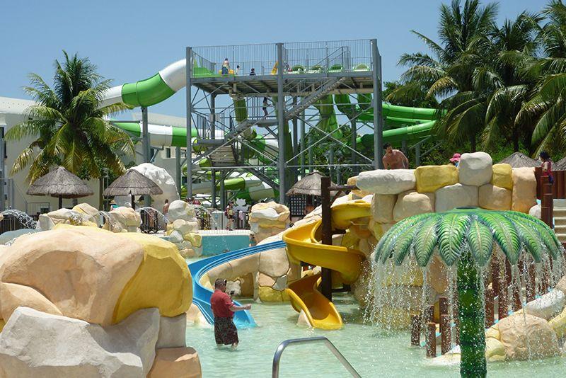 El área de niños del Aqua Park es una de las más valoradas por los huéspedes.