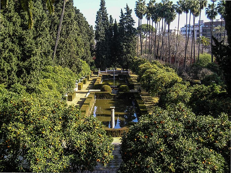 Los jardines de los Reales Alcázares.