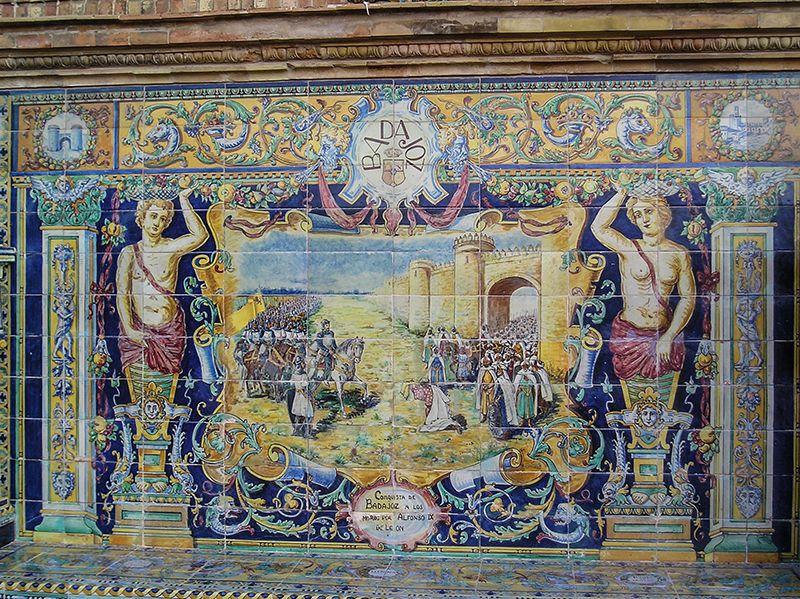 Los fascinantes azulejos presentes en casi todas las paredes e interiores de la ciudad.