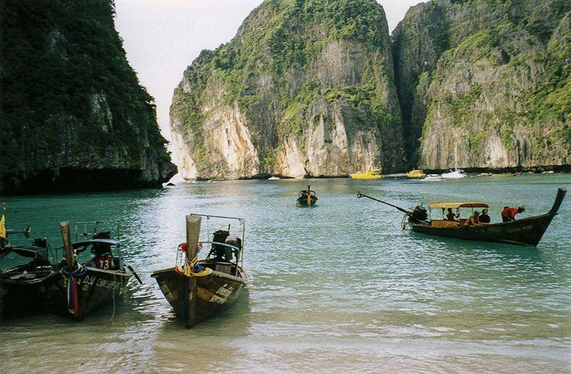Esta es una imagen característica de las Phi Phi Islands.