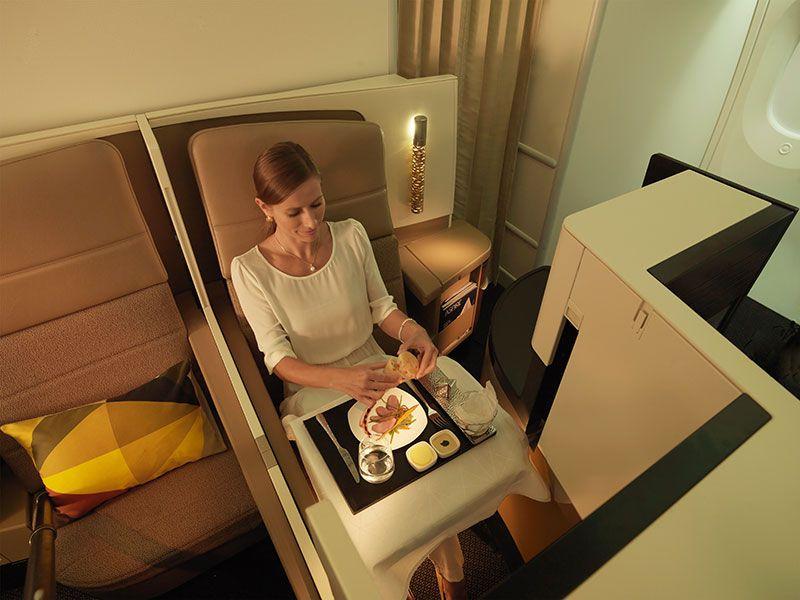 El confort y el lujo caracterizan el servicio de la aerolínea.