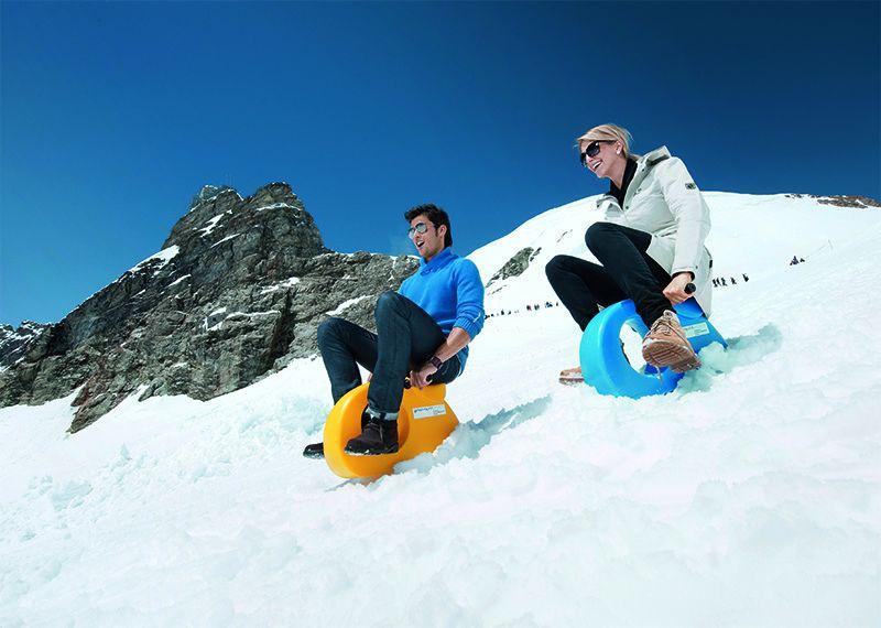 La diversión está garantizada en el Snow Fun Park.