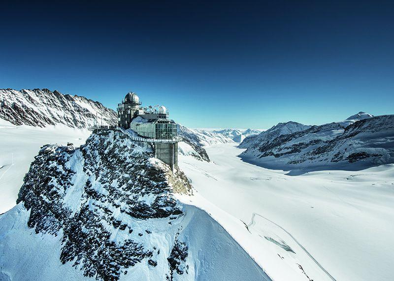 El mirador Sphinx invita a ver de cerca el glaciar Aletsch