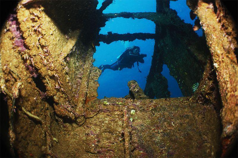 El Hickory es uno de los naufragios más famosos de la isla.