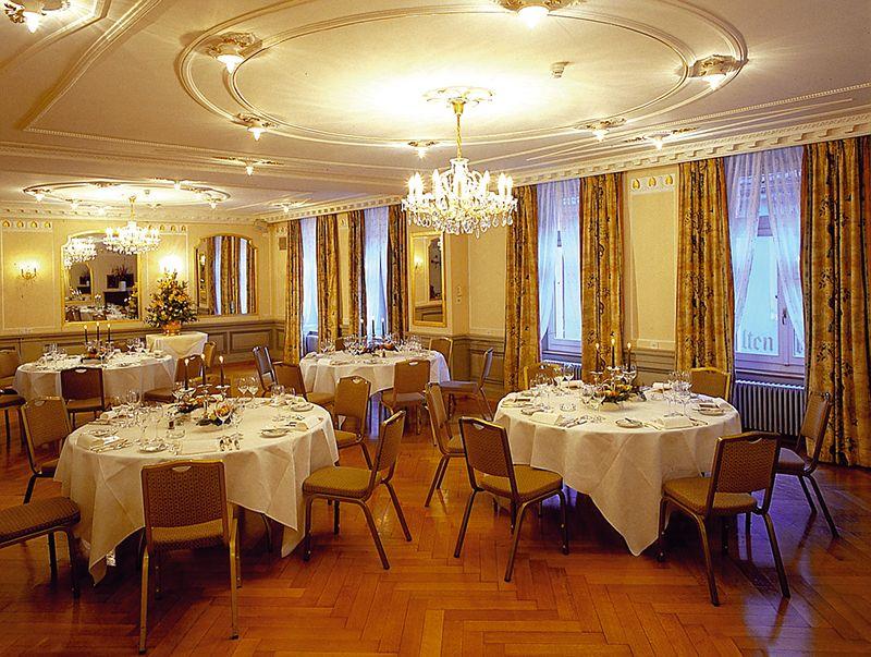 El salón desayunador también se utiliza como espacio para eventos.