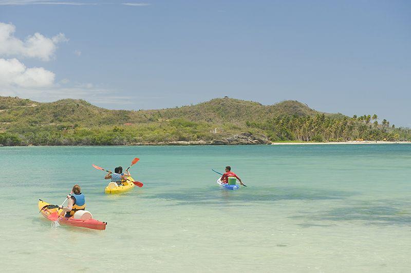 El kayak es tan sólo una de las actividades acuáticas propuestas.
