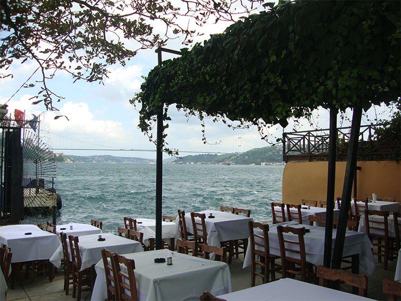 Restaurantes con mesas al lado del mar