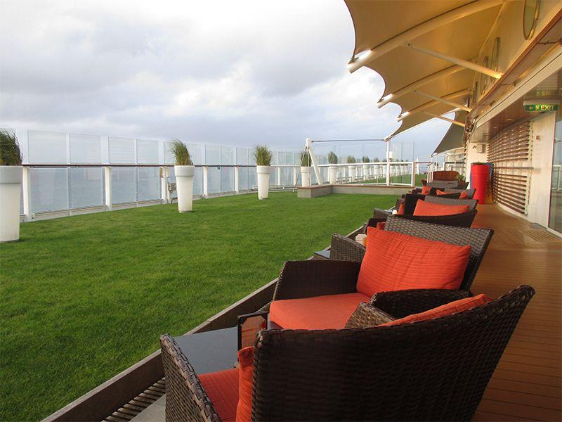 Cada rincón del crucero fue concebido para el bienestar de los pasajeros.