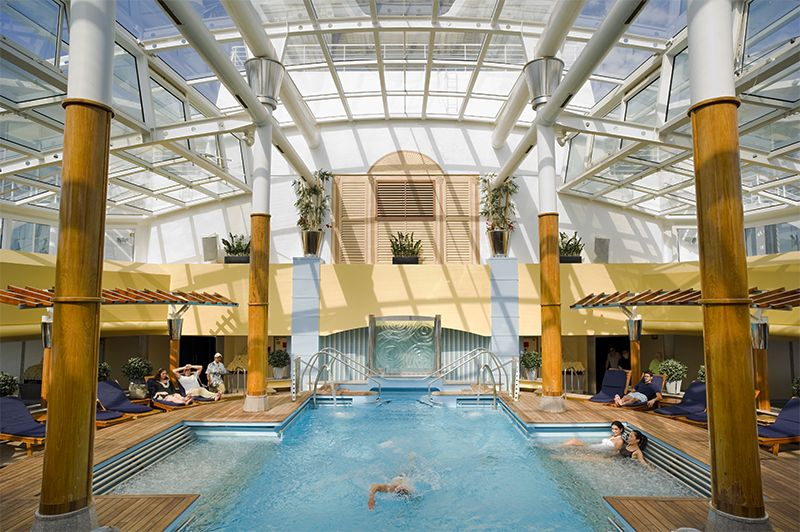 La piscina del solario