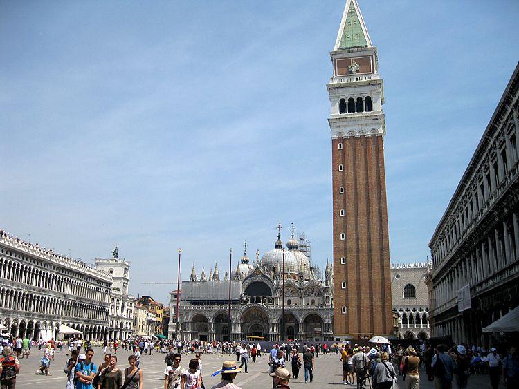 Vista general de la famosa Piazza San Marco.