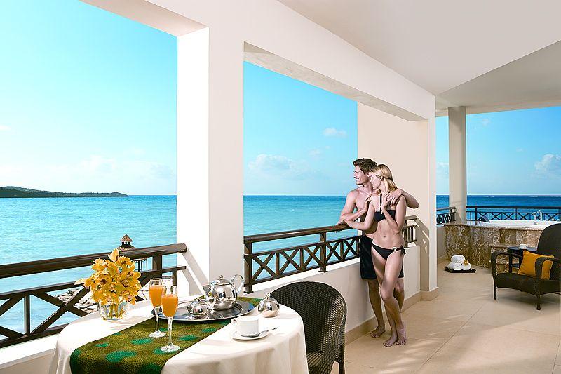 El balcón de la suite presidencial del Wild Orchid