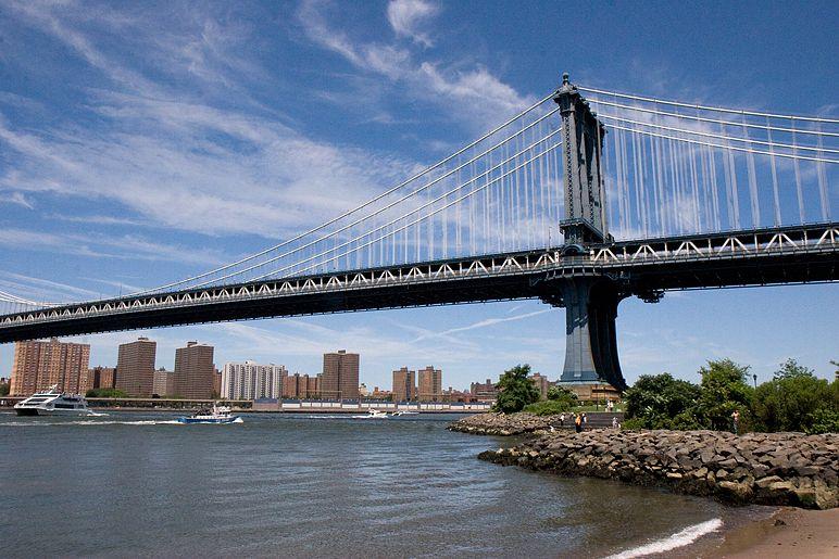 Una panorámica general del puente de Brooklyn