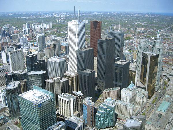 Vista panorámica de Toronto desde la CN Tower.