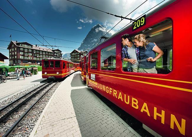 Jungfraujoch, en tren al techo de Europa