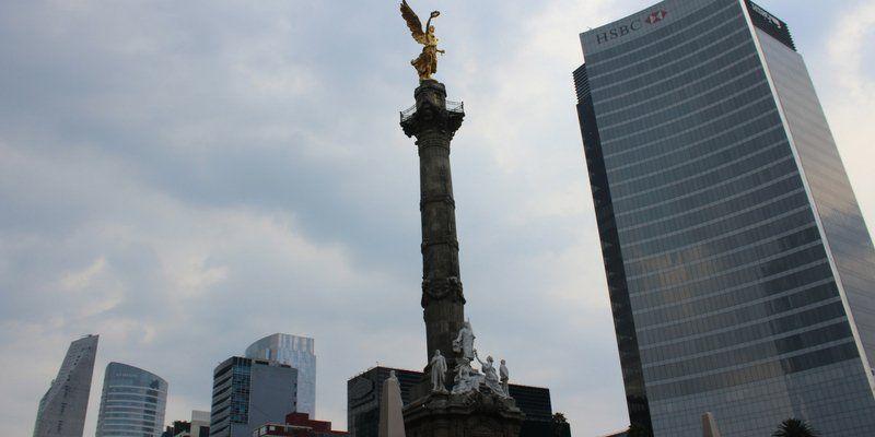 El monumento del Ángel de la Independencia.