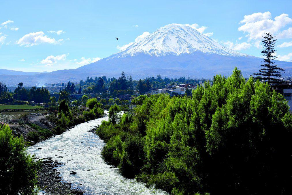 El estratovolcán Misti en Arequipa