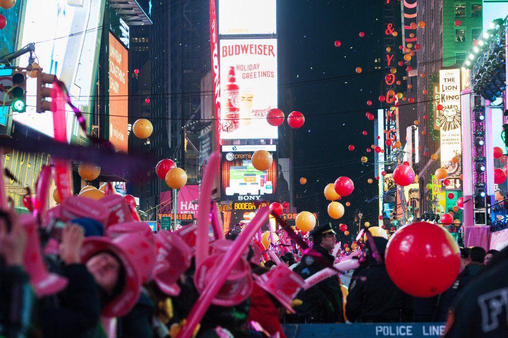 Otro clásico de la ciudad es el festejo del Año Nuevo en Times Square (Julienne Schaer).
