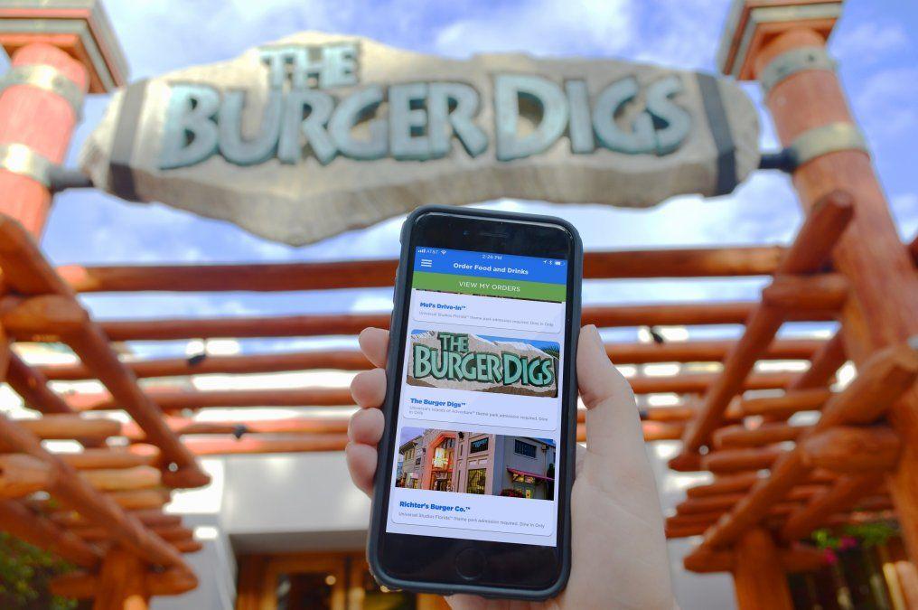 Una app para pedir comida en Universal Orlando Resort