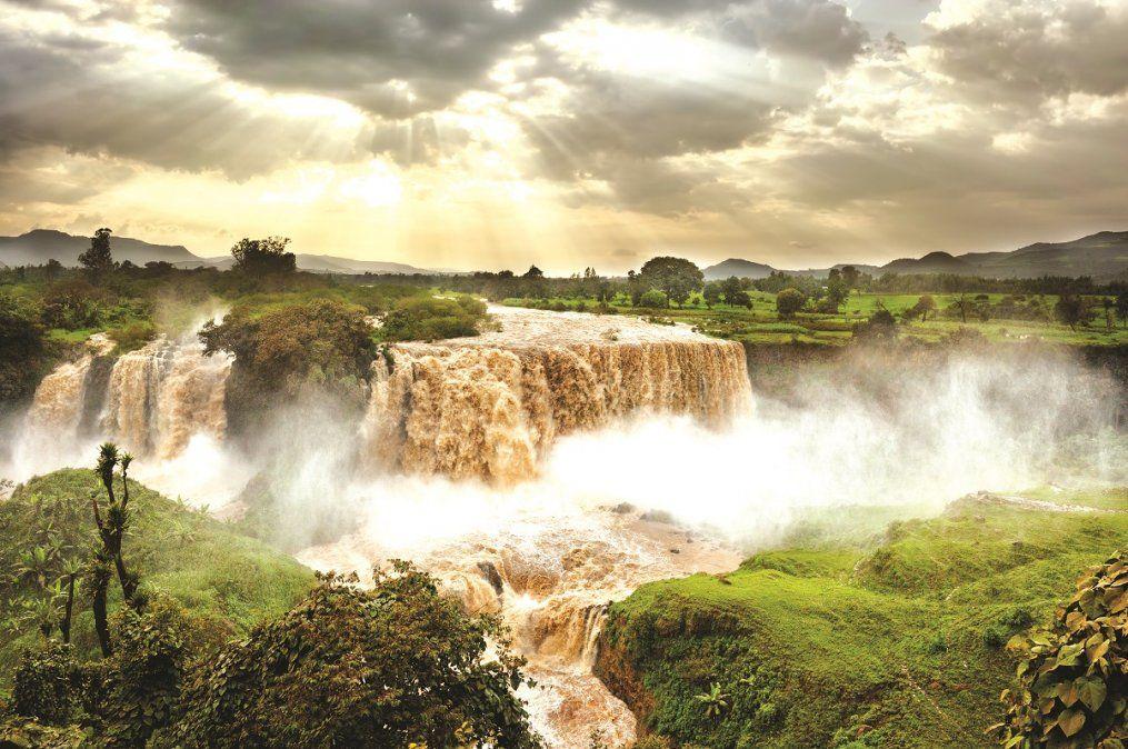 Las cataratas del Nilo Azul son un impresionante espectáculo natural.