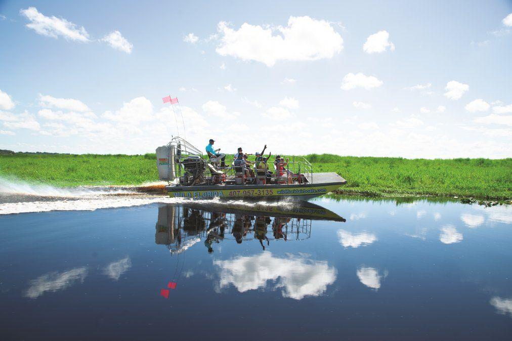 Navegar por los pantanos de Kissimmee debe ser una experiencia infaltable en el itinerario.