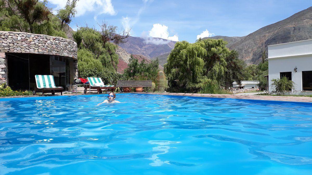 La zona de piscina: una inmersión en el típico paisaje del Norte argentino. (Créditos:Cinthia García Prato)